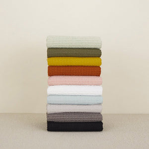 SIMPLE WAFFLE TOWELS - LIGHT GREY