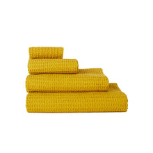 Load image into Gallery viewer, SIMPLE WAFFLE TOWELS - MUSTARD