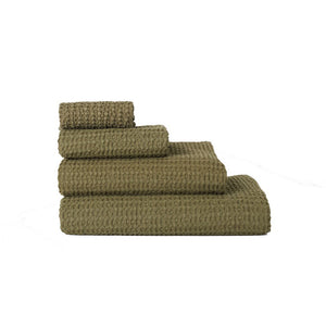 SIMPLE WAFFLE TOWELS - OLIVE