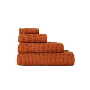 SIMPLE WAFFLE TOWELS - TERRA COTTA