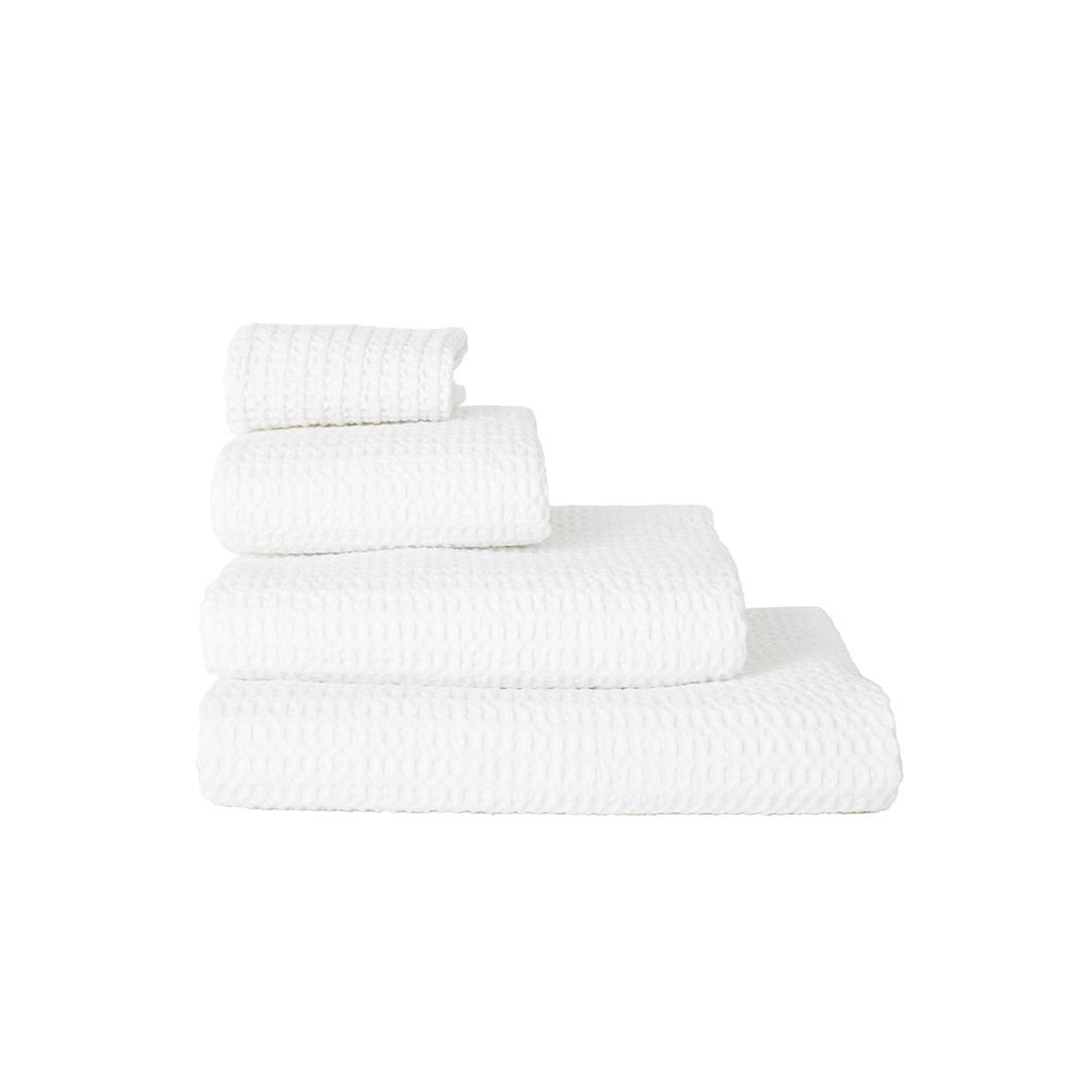 SIMPLE WAFFLE TOWELS - WHITE
