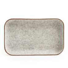 Load image into Gallery viewer, SMALL LEATHER & WOOL TRAY - GRANITE
