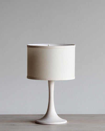 TRUMPET SMALL TABLE LAMP - WHITE WASH