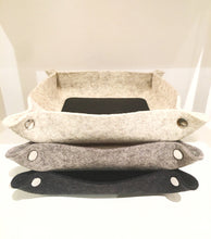 Load image into Gallery viewer, LEATHER & WOOL VALET TRAY - GRANITE