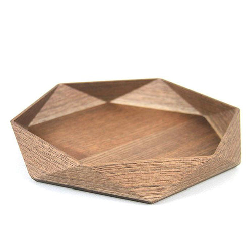 FACETED WALNUT TRAY