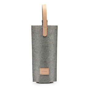 LEATHER & FELT WINE CARRIER