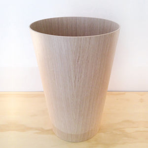 WOOD WASTE BASKET - ASH