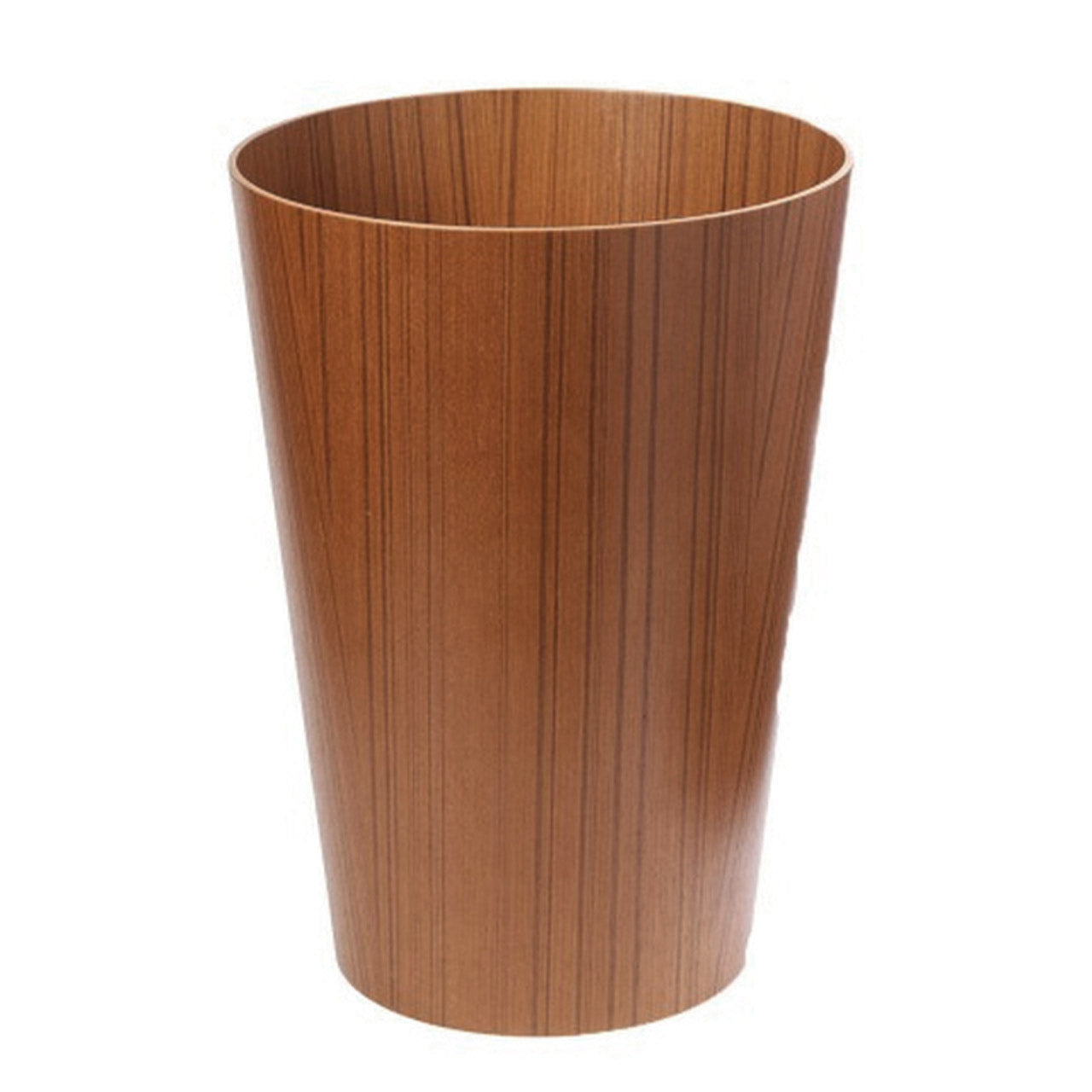 WOOD WASTE BASKET - AYOUS TEAK