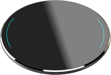 Wireless Charger Thin Aviation Aluminum Computer Numerical Control Technology Fast Charging Pad Black