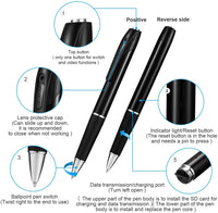 Hidden Spy Camera Pen Nanny Camera Pen HD 1080P