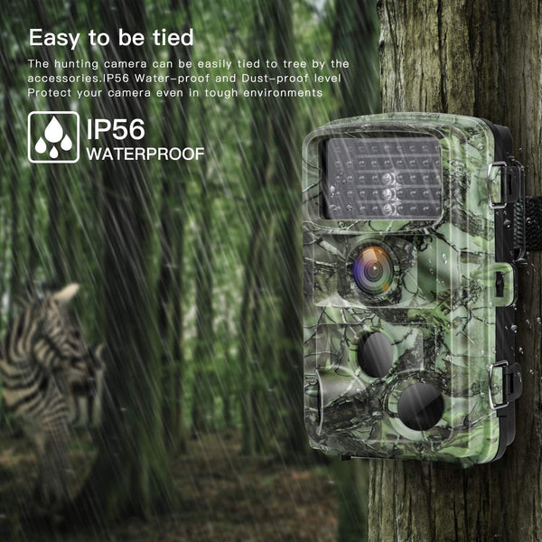 Game Camera 16MP 1080P Night Vision Waterproof Hunting Scouting Cam for Wildlife Monitoring