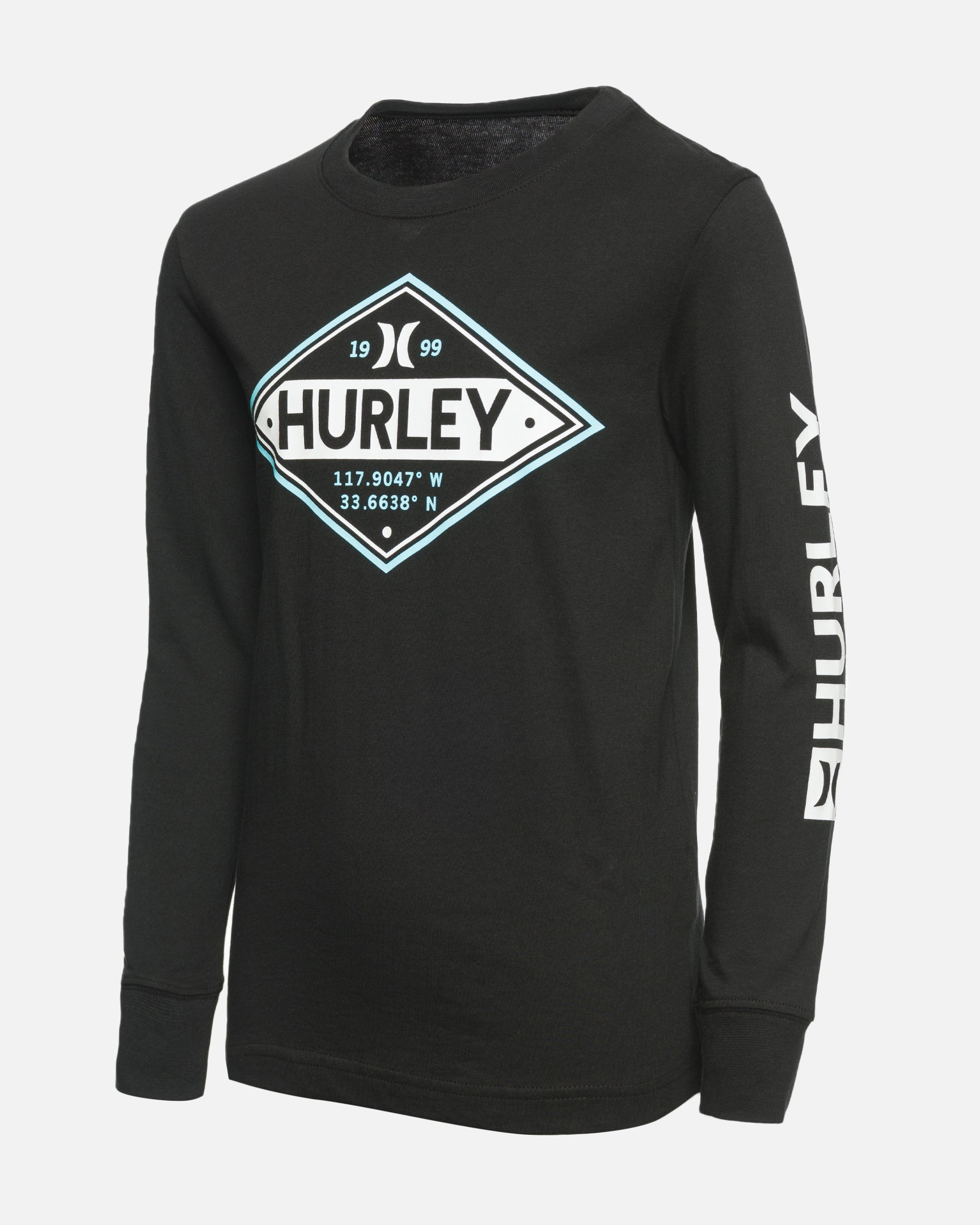 Hurley Boys Long Sleeve Rash Guard Coverall Aurora Green//Black 18M
