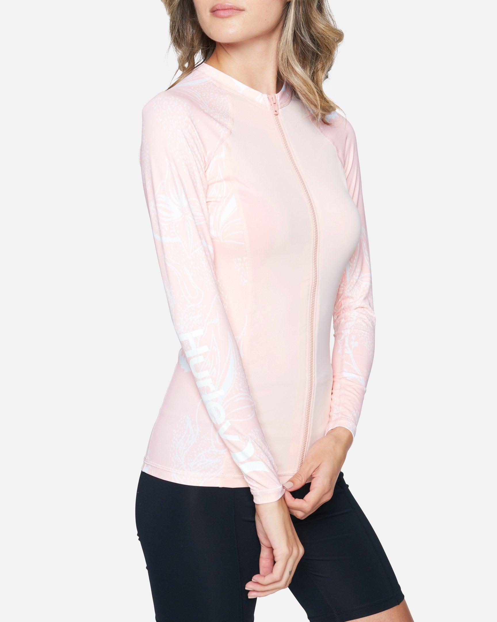 Women's Domino Long Sleeve Zip Rashguard