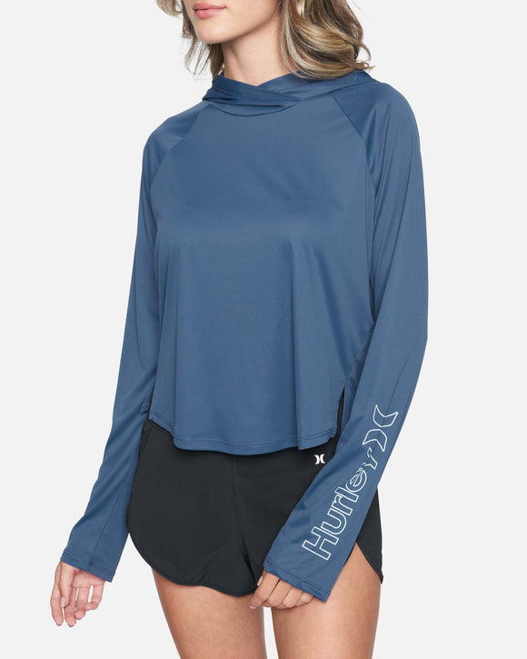 Women's Quick Dry Long Sleeve Hooded Surf Top