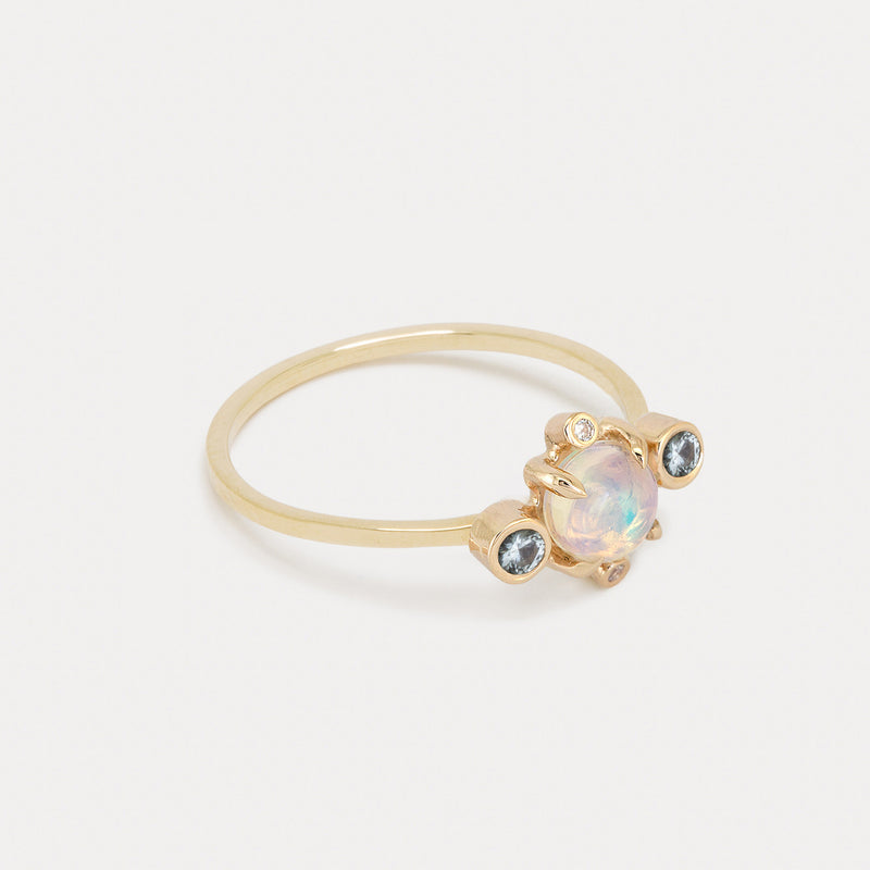 Astral Ring <br> Opal & Sky Blue Topaz ⟡ Gold