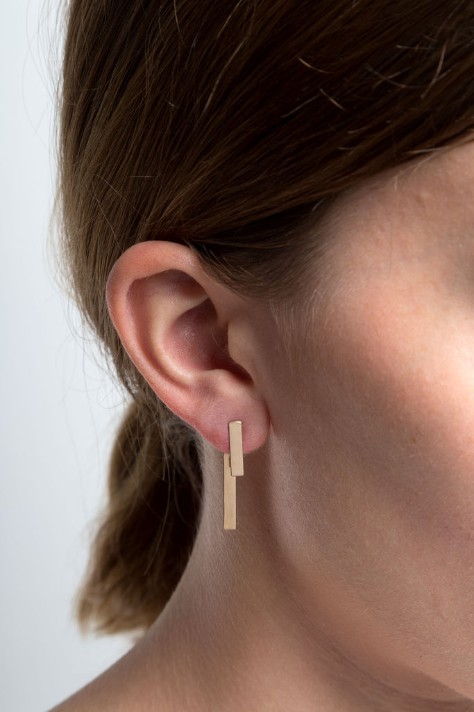 Bar & Pendulum Earrings <br> ⟡ Gold