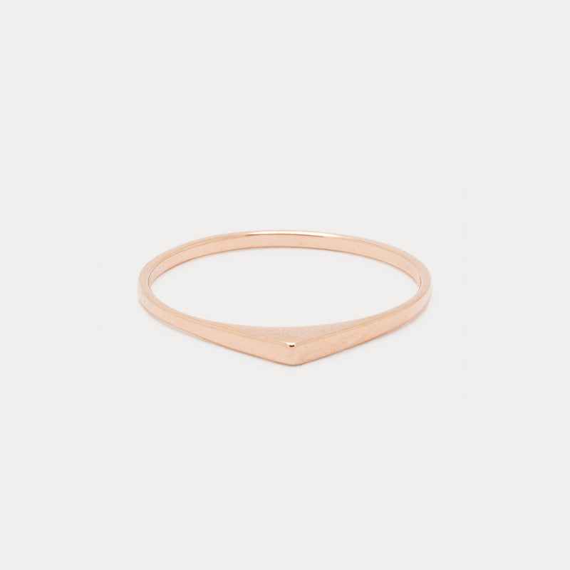 Ultra Thin Bateau Ring <br> Naked ⟡ Gold