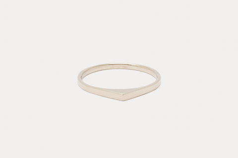 Thin Bateau Ring <br> Naked ⟡ Gold