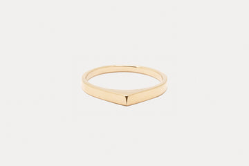 Wide Bateau Ring <br> Naked ⟡ Gold