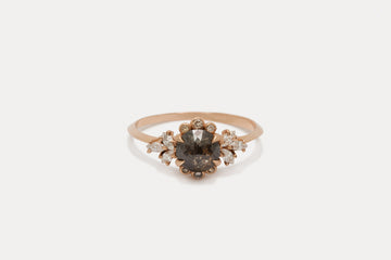 Briar Rose Ring <br> Black Pepper Diamond ⟡ Gold