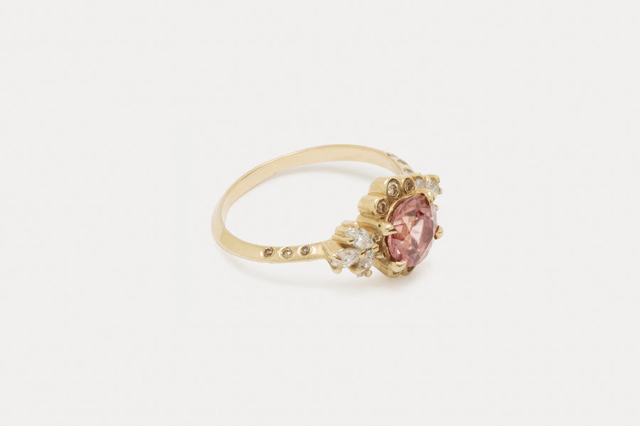 Briar Rose Ring <br> Blush Zircon ⟡ Gold