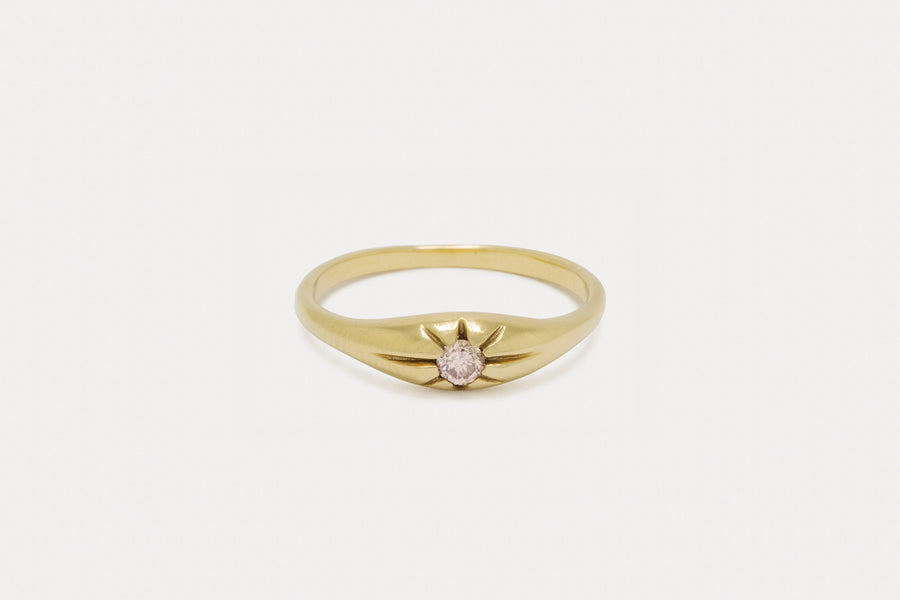 Celeste Ring <br> Fancy Pink Diamond ⟡ 18k Yellow Gold