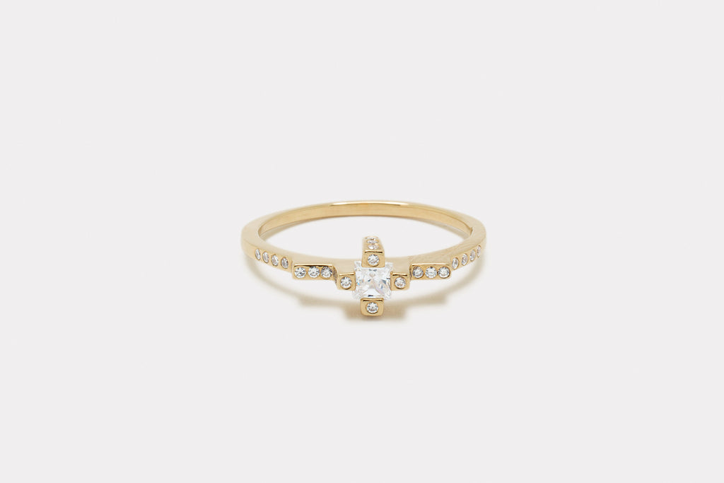 Citadel Ring <br> Diamond ⟡ Gold