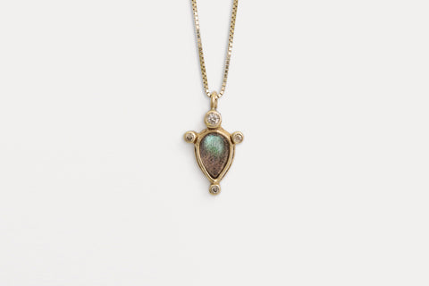 Cygnus Necklace <br> Labradorite ⟡ Gold