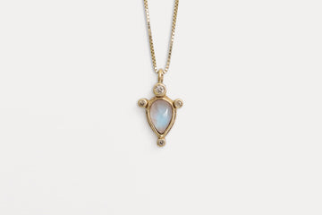 Cygnus Necklace <br> Moonstone ⟡ Gold