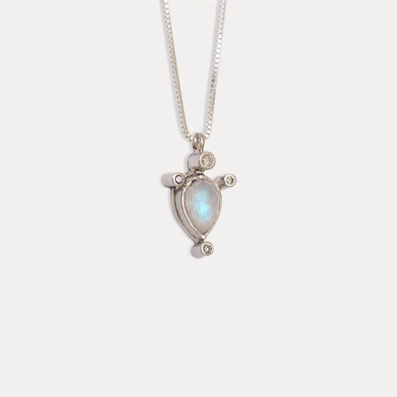 Cygnus Necklace <br> Moonstone ⟡ Silver