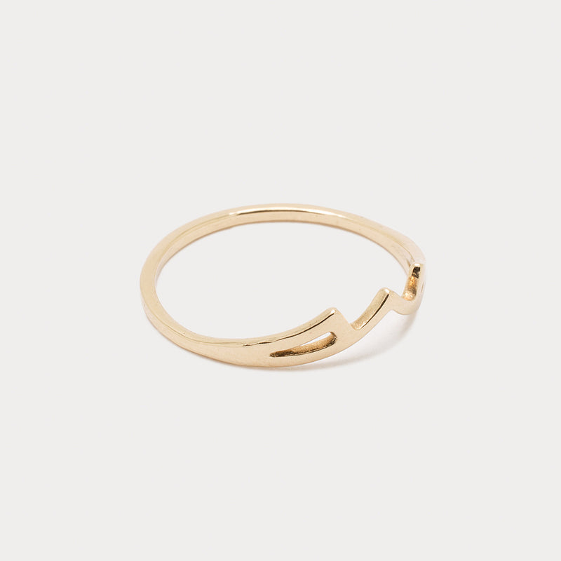 Kymata Band <br> ⟡ 14k Yellow Gold