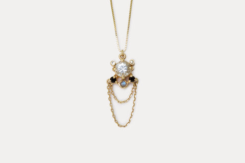 Libra Necklace <br> Aquamarine ⟡ Gold