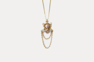 OOAK Libra Necklace <br> Golden Zircon ⟡ Gold