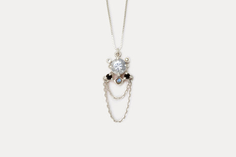 Libra Necklace <br> Aquamarine ⟡ Silver