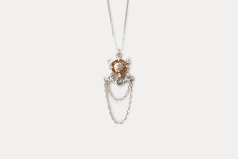 Libra Necklace <br> Golden Zircon ⟡ Silver