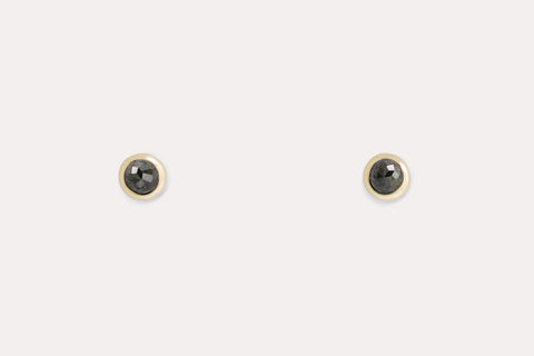 Mama Pip Studs <br> Black Diamond ⟡ Gold