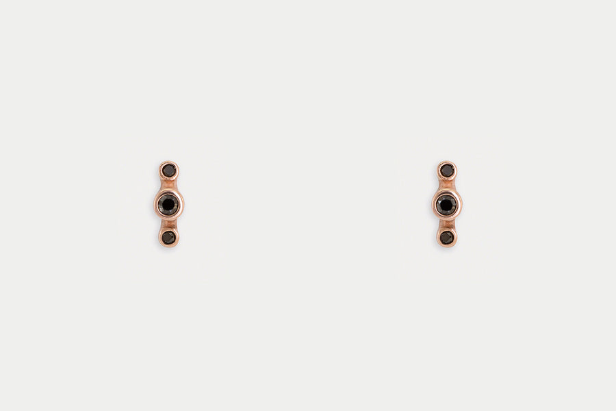 Orion Studs <br> Black Diamond ⟡ Gold