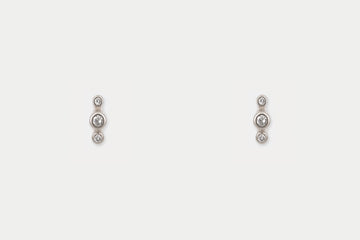 Orion Studs <br> Diamond ⟡ Silver
