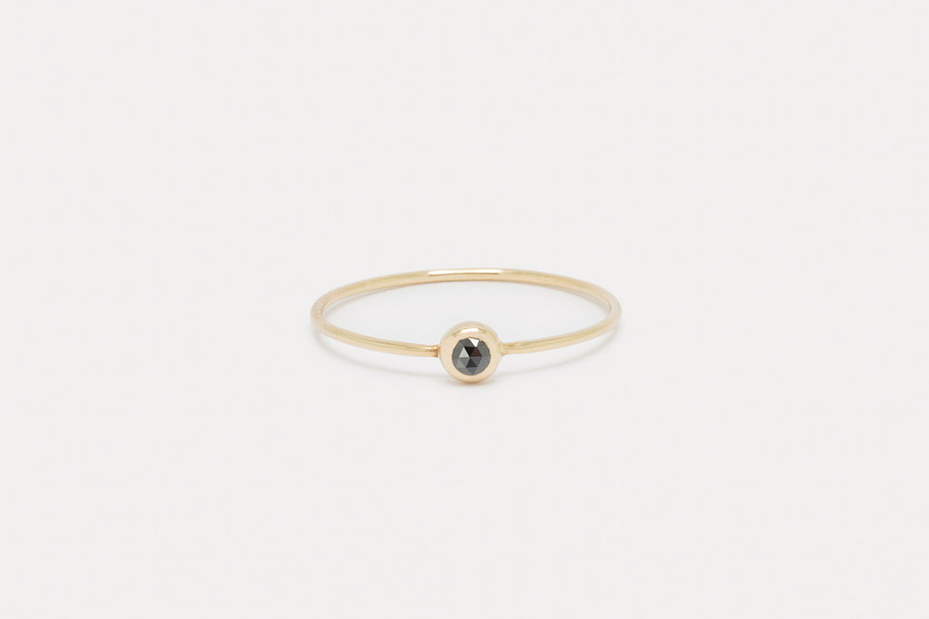Pip Ring <br> Black Diamond ⟡ Gold