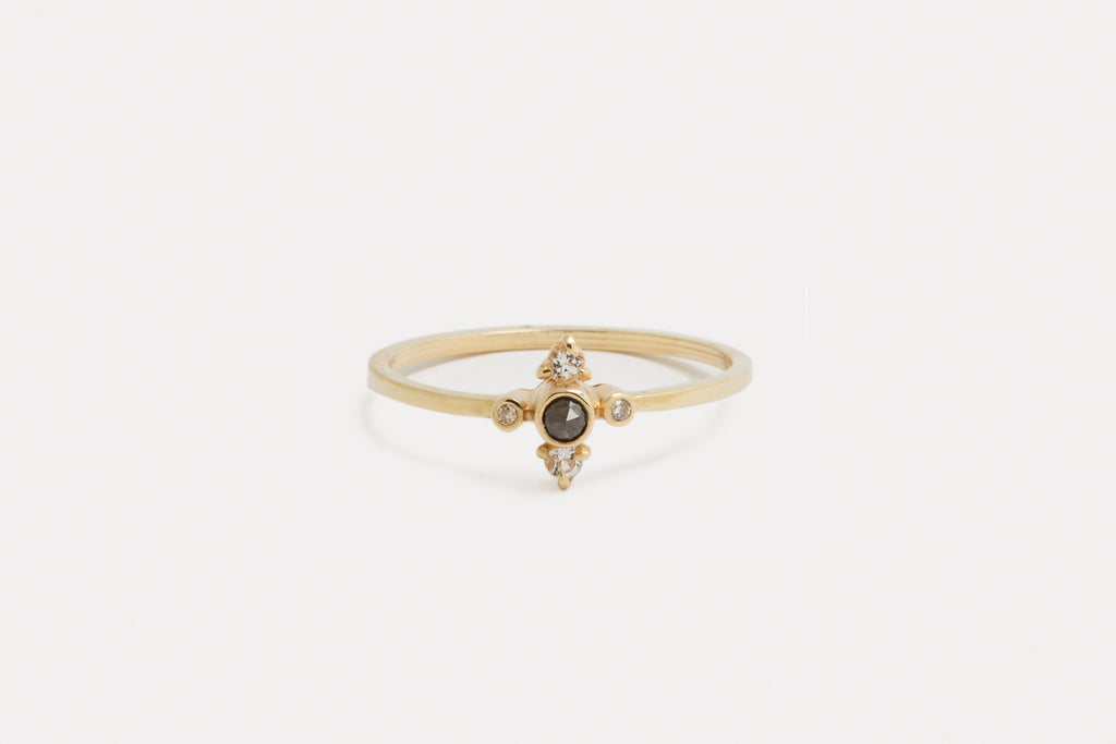 Pleiades Ring <br> Black Diamond ⟡ Gold
