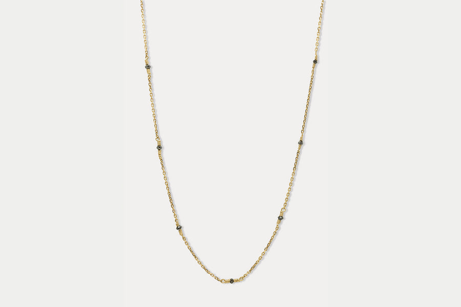 Rapunzel Necklace <br> Black Diamond ⟡ Gold