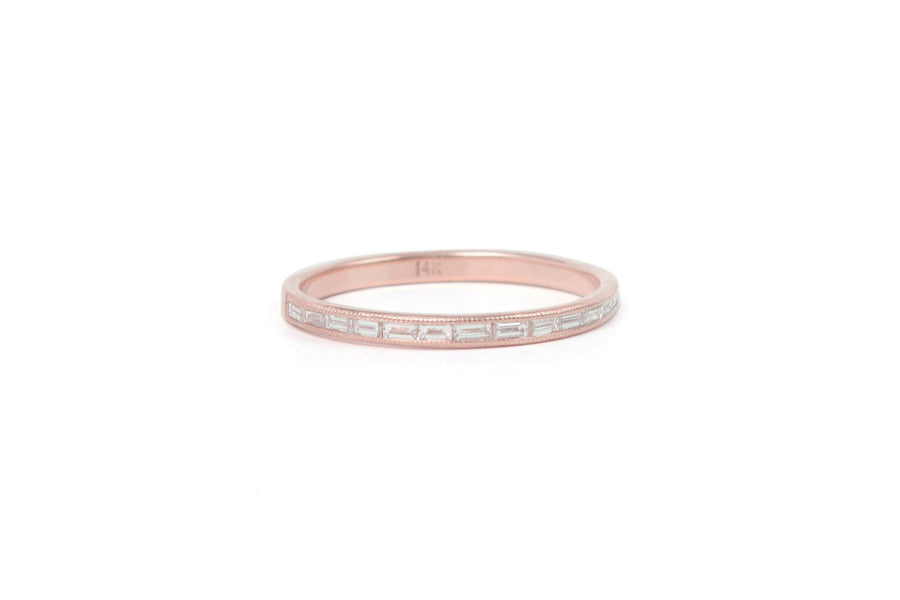 River of Light Band <br> Diamond ⟡ 14k Rose Gold - size 4
