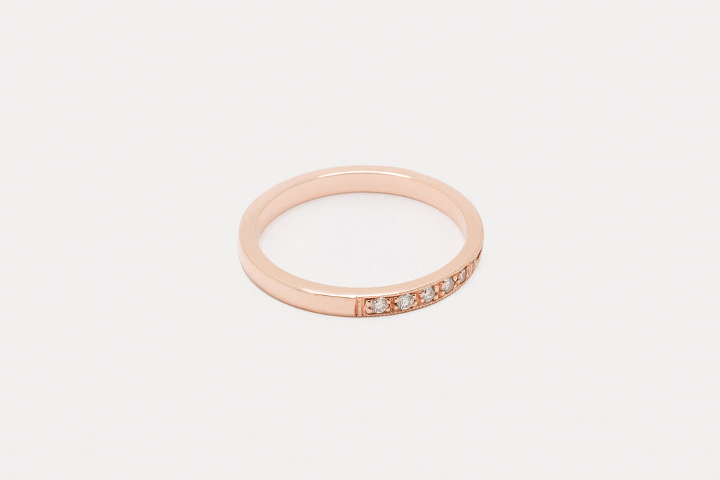 Rue de la Lumiere Band <br> Diamond ⟡ Gold