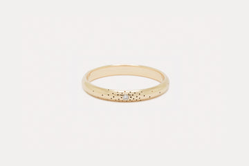 Wide Speckled Band <br> Diamond ⟡ Gold