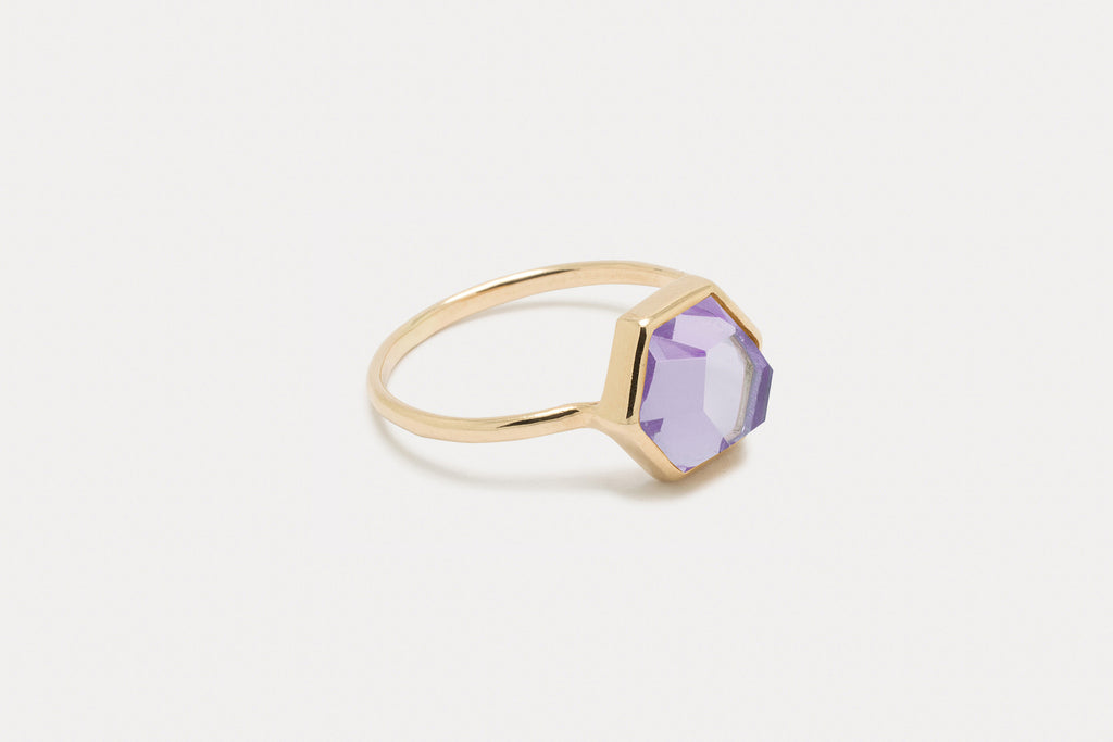 Tuhla Ring <br> Amethyst ⟡ Gold
