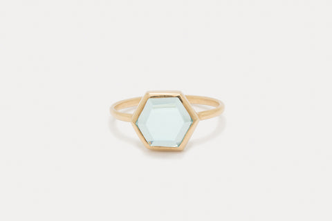 Tuhla Ring <br> Sky Blue Topaz ⟡ Gold