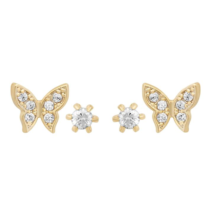 Butterfly Stud Set-Gold