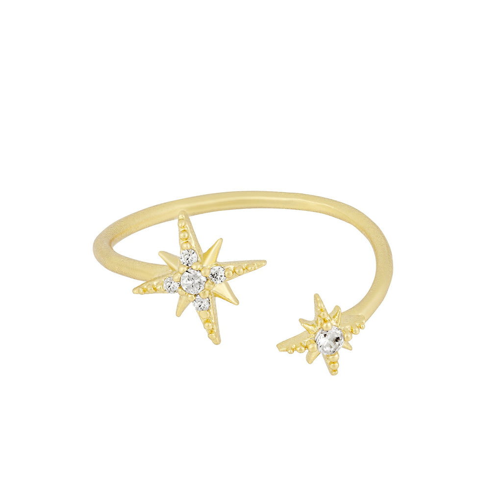 Halley's Comet Adjustable Ring Gold