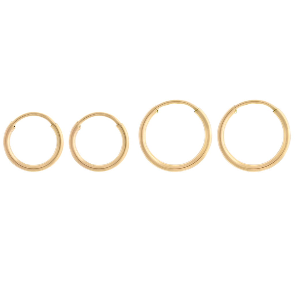 Tiny Endless Hoops Gold