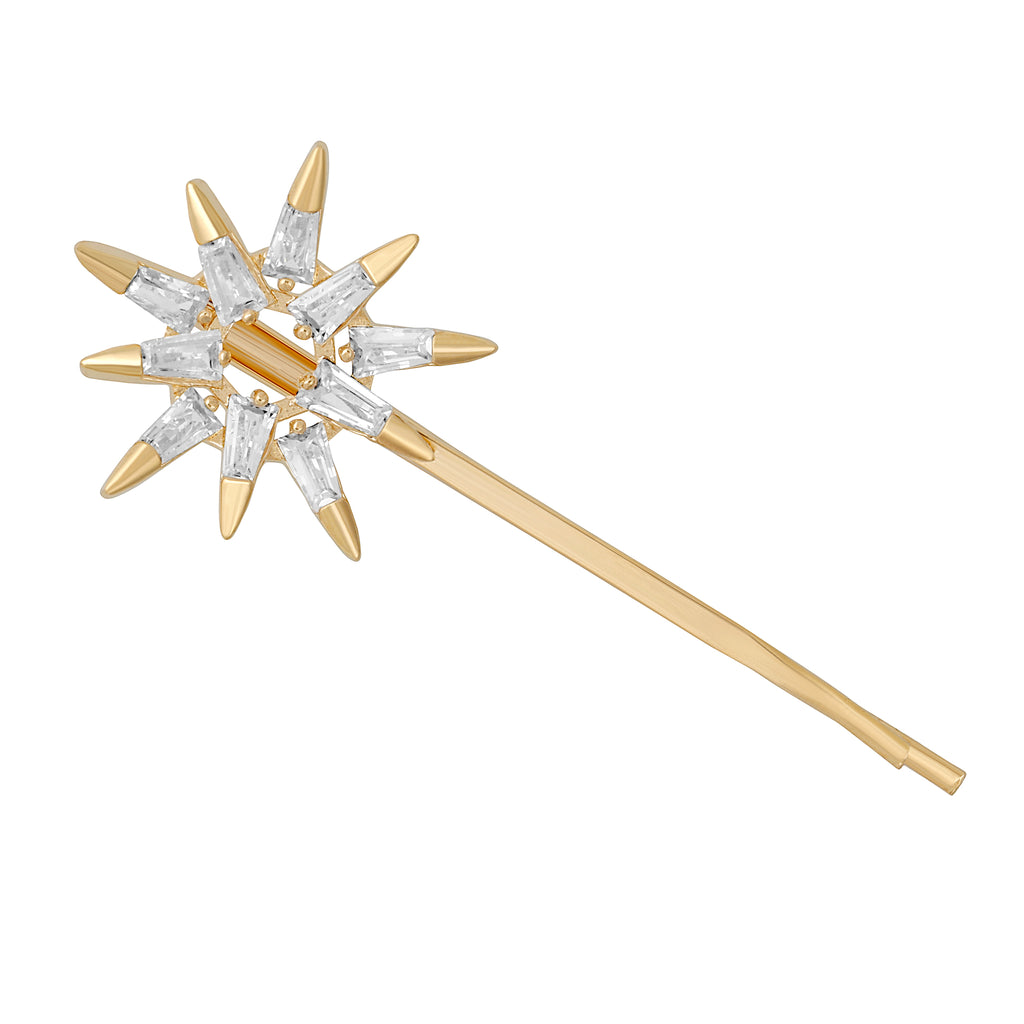Crystal Sunburst Hair Pin
